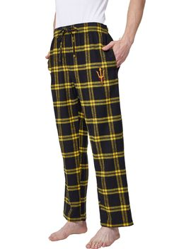 Concepts Sport Men's Arizona State Sun Devils Black/Gold Homestretch Sleep Pants by Concepts Sport