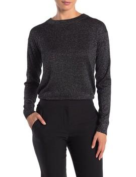 Long Sleeve Metallic Knit Sweater by Catherine Catherine Malandrino