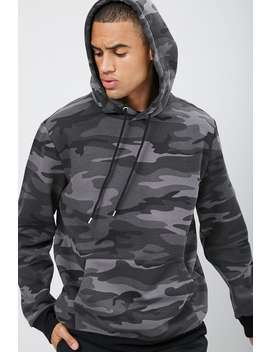 Camo Print Fleece Hoodie by Forever 21