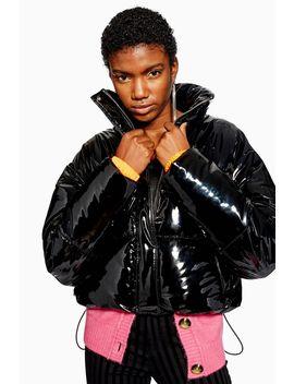 Vinyl Puffer Jacket by Topshop