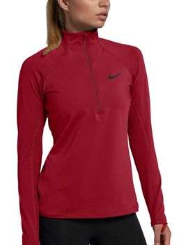 Nike Women's Pro Warm Half Zip Running Shirt by Nike