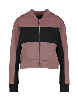 Panelled Bomber Jacket by Boohoo