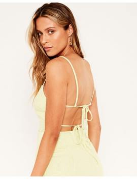 Linen Blend Tie Back Top by Glassons