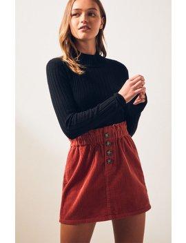 Pac Sun Paperbag Corduroy Skirt by Pacsun