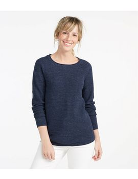 Textured Cotton Sweater, Long Sleeve by L.L.Bean