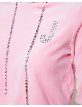 Swarovski Embellished Velour Hoodie by Juicy Couture