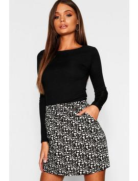 Dalmatian Print Mini Skirt by Boohoo