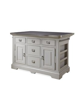 Paula Deen Home Dogwood Kitchen Island With Stainless Steel Counter Top & Reviews by Paula Deen Home