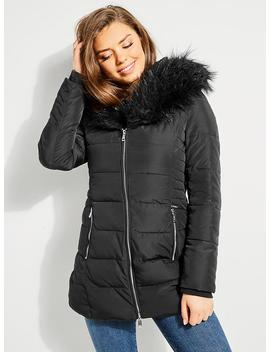 Cathi Neoprene Parka by Guess