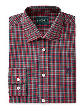 Plaid Shirt, Big Boys by Lauren Ralph Lauren