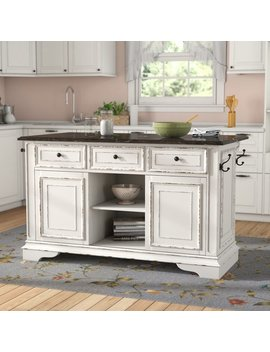 Lark Manor Tiphaine Kitchen Island With Granite Top & Reviews by Lark Manor