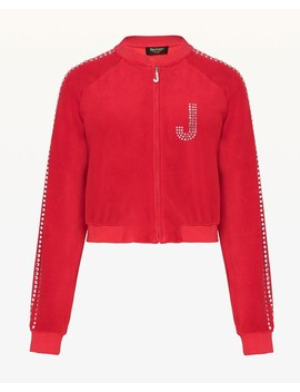 Swarovski Embellished Velour Crop Jacket by Juicy Couture