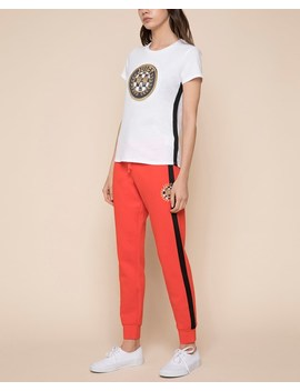 Luxe Tiger Patch Fleece Zuma Pant by Juicy Couture
