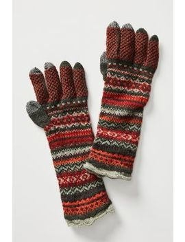 Alpine Fair Isle Wool Gloves by Anthropologie