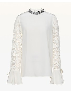 Silk Mock Neck Top by Juicy Couture