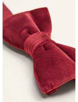 Velvet Bow Tie by Mango