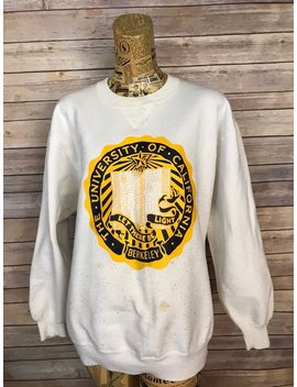 Vintage University Of California Berkeley Coat Of Arms Crewneck Sweatshirt (Xl) by Etsy