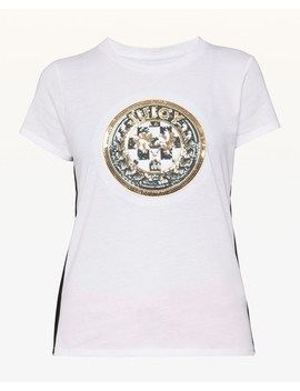Luxe Crest Patch Tee by Juicy Couture