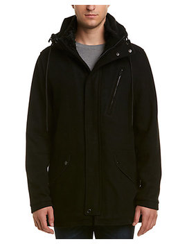 Karl Lagerfeld Textured Wool Blend Anorak by Karl Lagerfeld