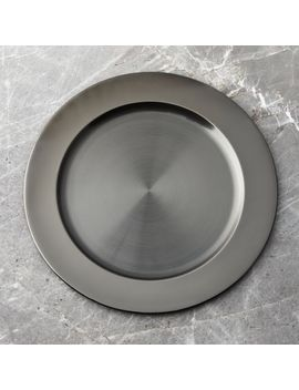 Black Nickel Plated Charger by Crate&Barrel