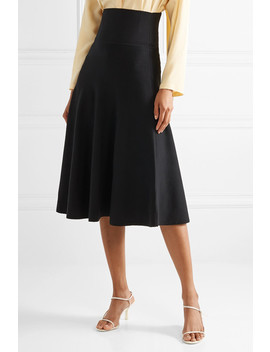 Allesia Wool Blend Midi Skirt by The Row