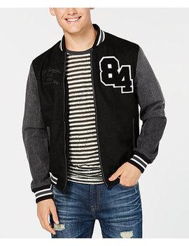 Men's Hybrid Varsity Jacket, Created For Macy's by American Rag