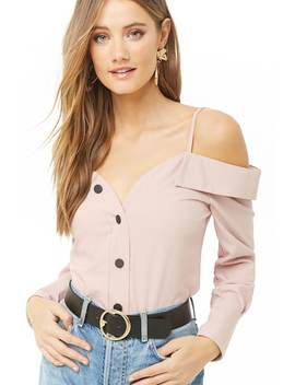 Open Shoulder Henley Top by Forever 21