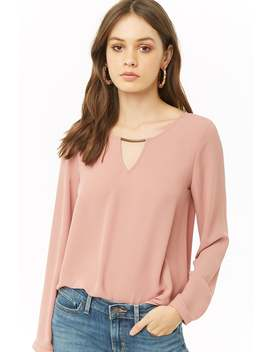Chiffon Cutout Top by Forever 21