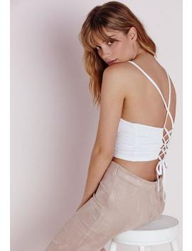 Tie Back Bralet White by Missguided
