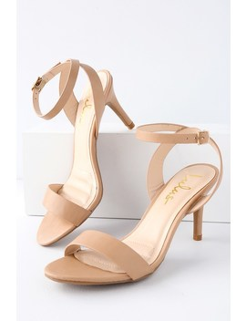 Hunter Natural Ankle Strap Heels by Lulus