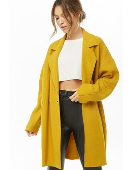Woolen Cocoon Coat by Forever 21