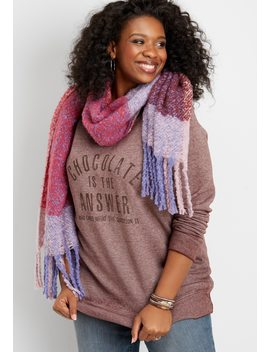 Plus Size Chocolate Is The Answer Graphic Pullover by Maurices