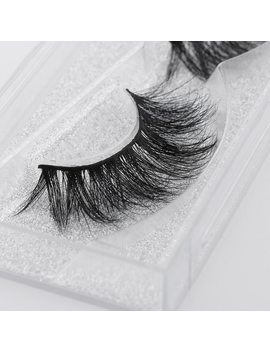 1 Pair Woman's Fashion 100 Percents 3 D Real Mink Fur False Eyelashes Natural Long Cross Beauty Makeup Tools #D22 by Skonhed