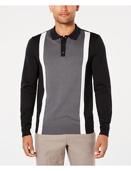 Men's Colorblocked Stripe Polo, Created For Macy's by Ryan Seacrest Distinction