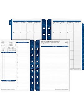 Franklin Covey Classic Monticello Dated Two Page Per Day Planner Refill, 5 1/2 X 8 1/2 (2019) by Franklin Covey