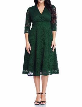 Grapent Women's Lace Plus Size Mother Of The Bride Skater Dress Bridal Wedding Party by Grapent