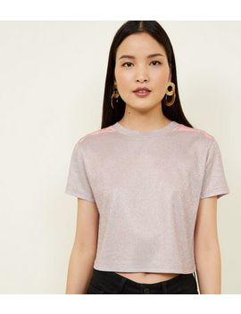 Rose Gold Glitter Crop Top by New Look