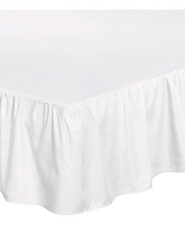 Utopia Bedding Bed Ruffle Skirt (Full   White)   Brushed Microfiber Bed Wrap With Platform   Easy Fit   Gathered Style   3 Sided Coverage by Utopia Bedding