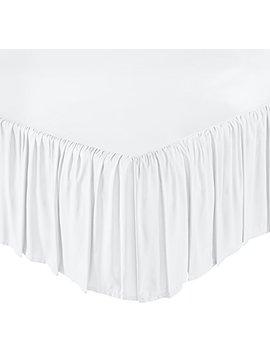 Amazon Basics Ruffled Bed Skirt   Full, Bright White by Amazon Basics