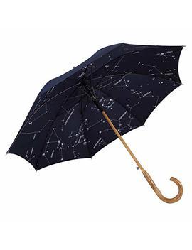 Balios (Designed In Britain Prestige Walking Stick Umbrella—Luxury Chestnut Wood Crook Handle—Bamboo Shaft—Windproof Fiberglass Frame—Auto Open 300 T Finest Fabric by Balios