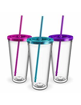 Maars Insulated Travel Tumblers 32 Oz. | Double Wall Acrylic | 3 Pack by Maars® Drinkware
