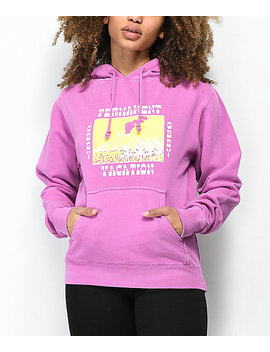 obey-permanent-vacation-vintage-purple-hoodie by obey