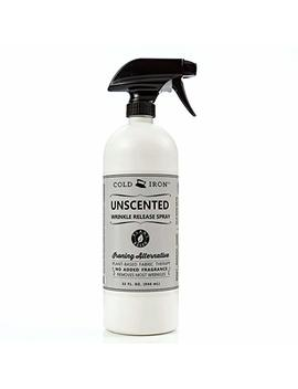 Cold Iron Wrinkle Release Spray Unscented 32 Ounce by Cold Iron