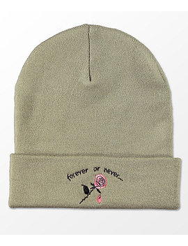 Empyre Ryan Forever Or Never Olive Beanie by Empyre