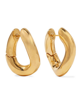 Gold Tone Earrings by Balenciaga