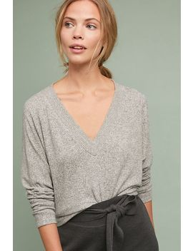 Brushed Fleece V Neck Pullover by Coa