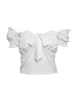 Sexy Off Shoulder Blouse Ruffles Bow T Shirt Women Summer Crop Tops Solid Tanks White Pink Party Beach Shirts Women Lace Top by Orsherlly