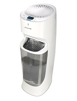 Honeywell Top Fill Tower Humidifier With Digital Humidistat White Auto Shut Off, Variable Settings, Digital Humidistat & Removeable Top Fill Tank For Large Rooms, Bedroom, Baby Room by Honeywell