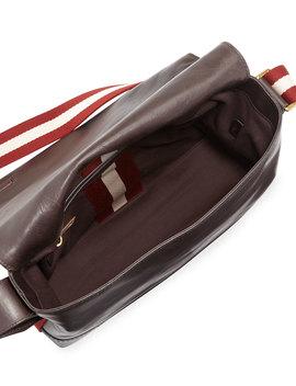 Tamrac Men's Leather Messenger Bag, Brown by Bally