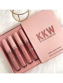 100 Percents Authentic Kim Kardashian Kkw CrÈme Liquid Lipstick Collection 4 Crème Liquid Lipsticks (0.11 Fl Oz./Oz. Liq / 3.00 G) by Kkw Beauty